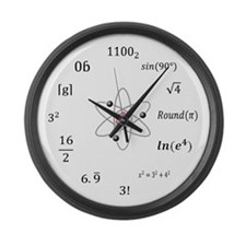 sheldon-large-wood Large Wall Clock