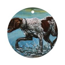 German Shorthaired Pointer Round Ornament