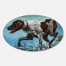 German Shorthaired Pointer Sticker (Oval)