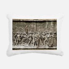 Giordano Bruno's executi Rectangular Canvas Pillow