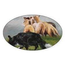 Border Collie and Sheep Decal