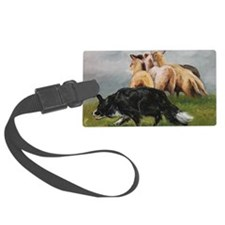 Border Collie and Sheep Luggage Tag