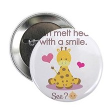 """Melt hearts with a smile baby shirt 2.25"""" Button"""