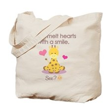 Melt hearts with a smile baby shirt Tote Bag