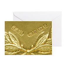 Gold hallmarks, 1897 Greeting Card