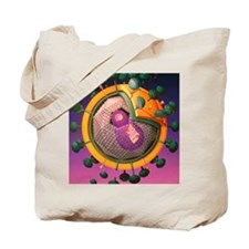 Graphic illustration of AIDS virus Tote Bag