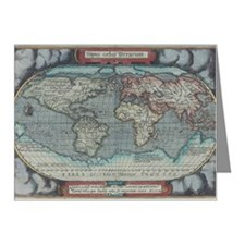 Old atlas with outdated cart Note Cards (Pk of 20)