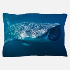 Whale shark and pilot fish Pillow Case