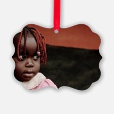 Girl at a refugee camp, Uganda Ornament