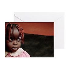 Girl at a refugee camp, Uganda Greeting Card