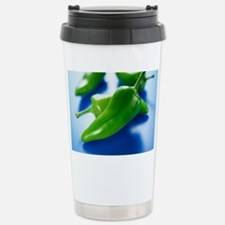 Green chilli peppers Stainless Steel Travel Mug