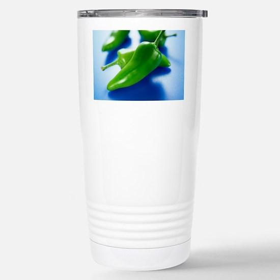 Green chilli peppers Stainless Steel Travel Mug