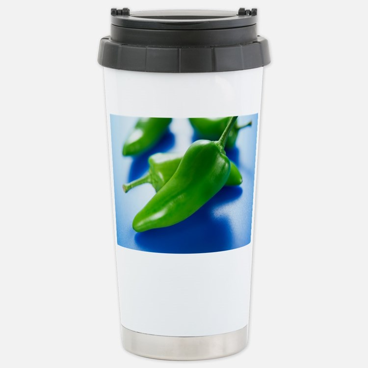 Green chilli peppers Travel Mug