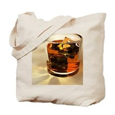 Glass of whiskey, computer artwork Tote Bag