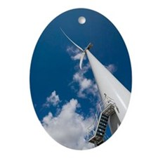 Wind turbine Oval Ornament