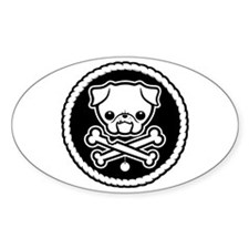 PugglyPirate-1cl Oval Decal