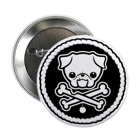 "PugglyPirate-1cl 2.25"" Button (10 pack)"