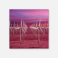 """Wind turbines Square Sticker 3"""" x 3"""""""