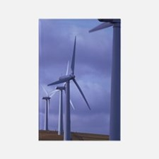 Wind farm turbines Rectangle Magnet