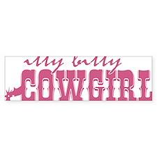 Itty Bitty Cowgirl Bumper Sticker