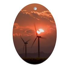 Wind turbines Oval Ornament
