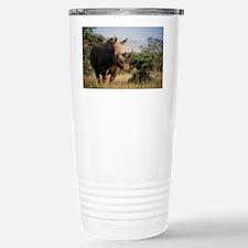 White rhinoceros Stainless Steel Travel Mug