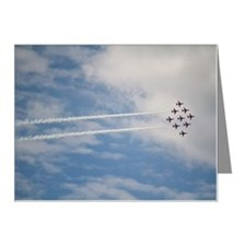 Red Arrows at air show Note Cards (Pk of 10)