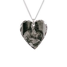 Gottfried Wilhelm Leibnitz, G Necklace Heart Charm