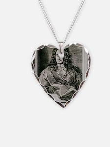 Gottfried Wilhelm Leibnitz, G Necklace Heart Charm