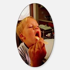 GP examining child's mouth Decal