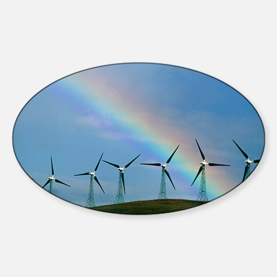 Wind farm Sticker (Oval)
