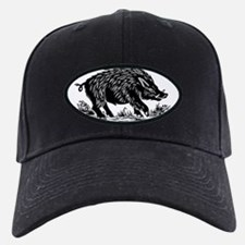 Wild boar, woodcut Baseball Hat