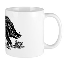 Wild boar, woodcut Mug