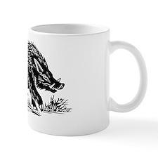 Wild boar, woodcut Small Mug