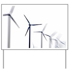 Wind turbines Yard Sign