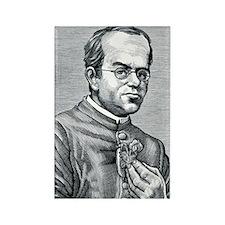 Gregor Mendel, Austrian botanist Rectangle Magnet