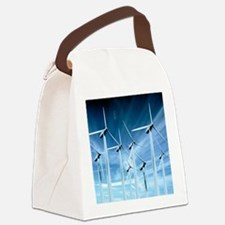 Wind turbines Canvas Lunch Bag