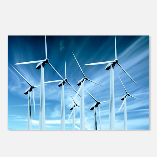 Wind turbines Postcards (Package of 8)