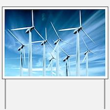 Wind turbines Yard Sign