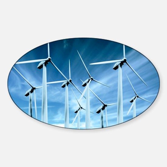 Wind turbines Sticker (Oval)