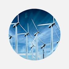 "Wind turbines 3.5"" Button"