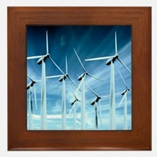 Wind turbines Framed Tile