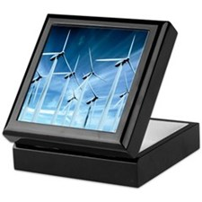Wind turbines Keepsake Box