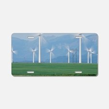 Wind turbines Aluminum License Plate