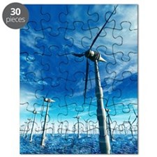 Wind power, artwork Puzzle