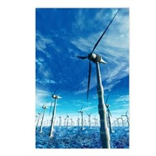 Wind power, artwork Postcards (Package of 8)