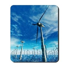 Wind power, artwork Mousepad