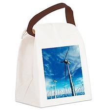 Wind power, artwork Canvas Lunch Bag