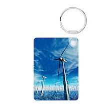 Wind power, artwork Keychains