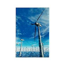 Wind power, artwork Rectangle Magnet